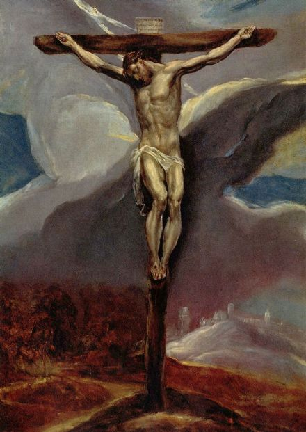 Greco, El (Domenico Theotocopuli): Christ on the Cross. Religious Fine Art Print.  (00665)